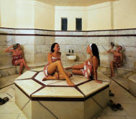 privacy in a Turkish bath or hamam