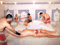 Turkish bath or hamam is relaxing