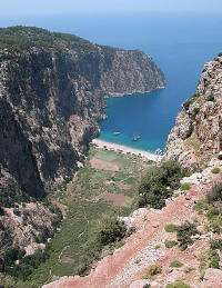 Butterfly valley near Fethiye