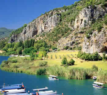 Caunos with its kings tombs near Dalyan, Best holiday ...