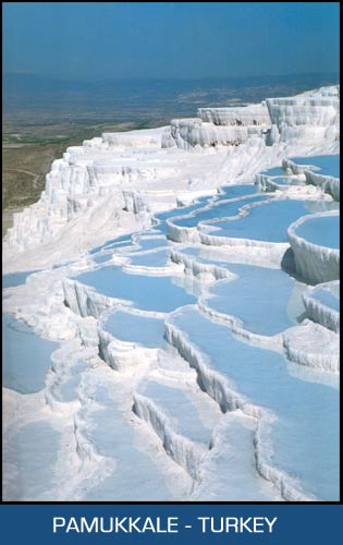 How To Take The Temperature Of A Turkey >> Pamukkale with ist famous white teraces near Denizli, Best holiday places in Turkey, Marmaris ...